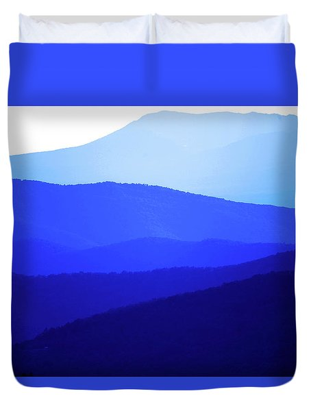 The Blue Ridge Mountains Duvet Cover