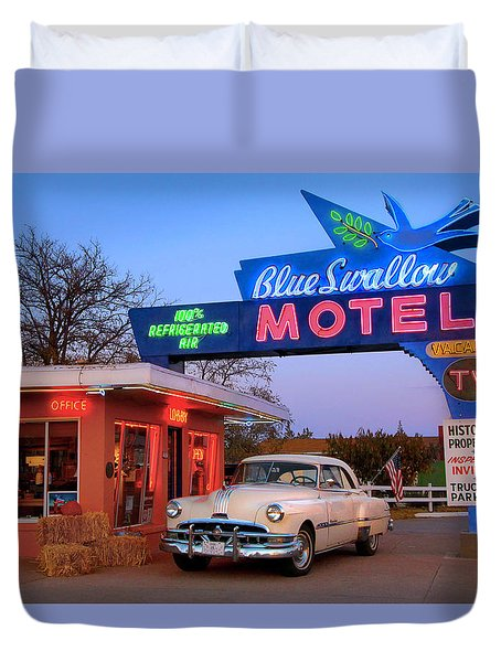 The Blue Swallow Duvet Cover