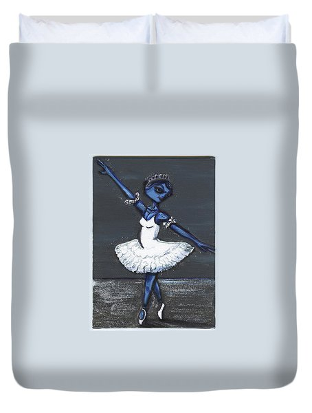 The Blue Swan Duvet Cover