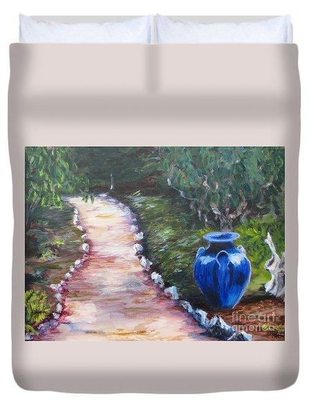 The Blue Vase Duvet Cover