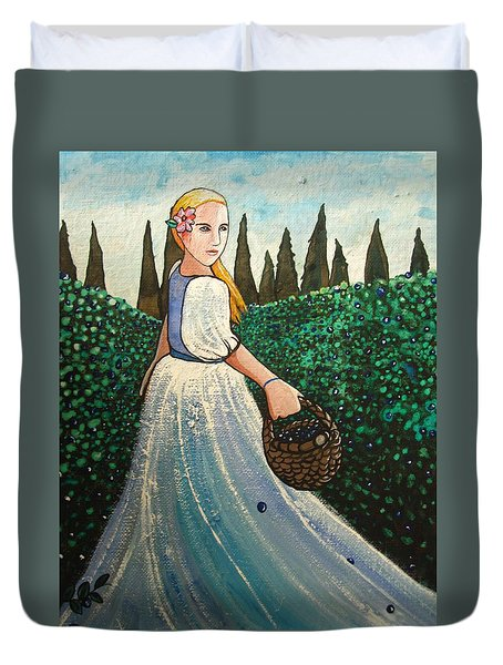 The Blueberry Harvest Duvet Cover