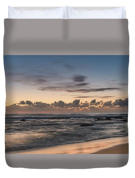 The Blues - Sunrise Seascape  Duvet Cover
