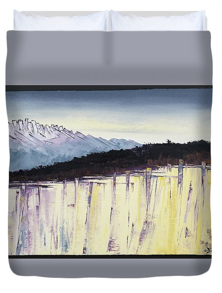 The Bluff And The Mountains Duvet Cover