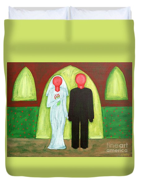 The Blushing Bride And Groom Duvet Cover by Patrick J Murphy