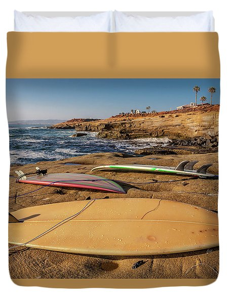 The Boards Duvet Cover by Peter Tellone