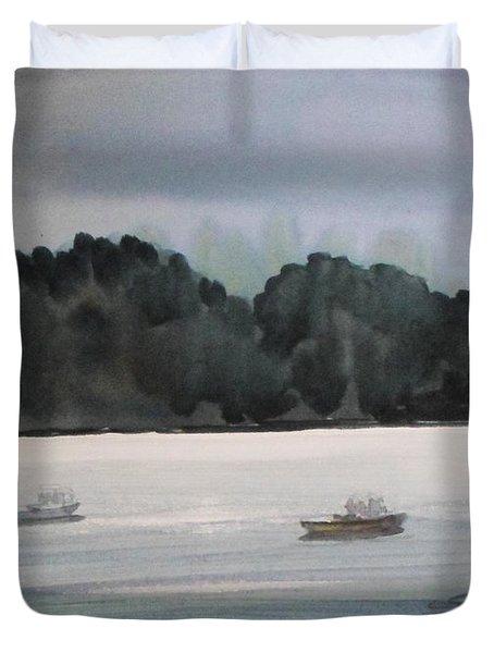 The Boat Ride Duvet Cover