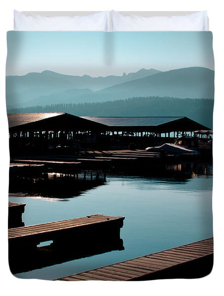 The Boathouse At Elkins Resort Duvet Cover by David Patterson