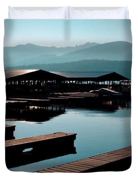 The Boathouse At Elkins Resort Duvet Cover