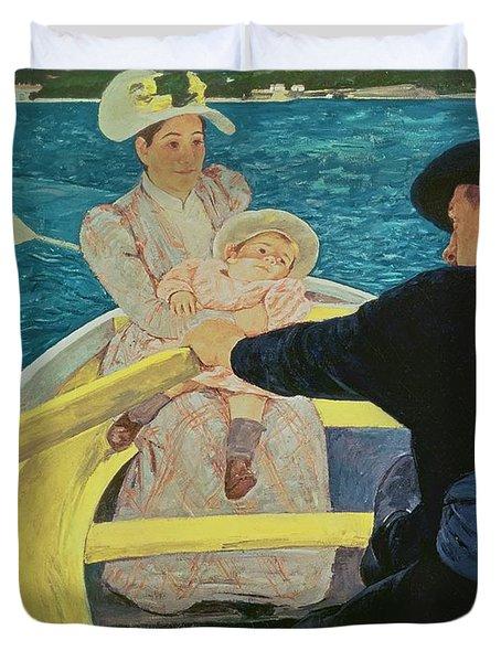 The Boating Party Duvet Cover by Mary Stevenson Cassatt