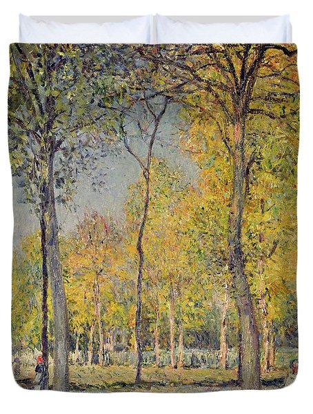 The Bois De Boulogne Duvet Cover by Alfred Sisley