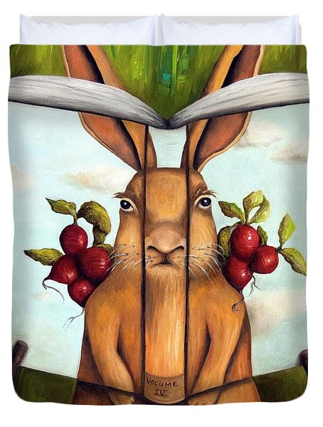 The Book Of Secrets 4-the Rabbit Story Duvet Cover