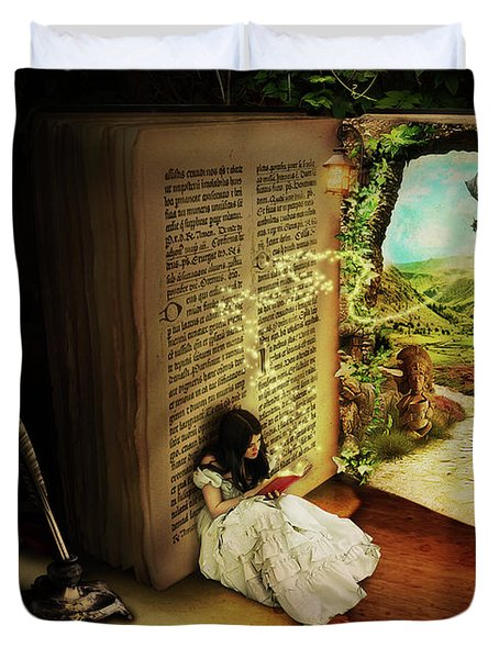 The Book Of Secrets Duvet Cover