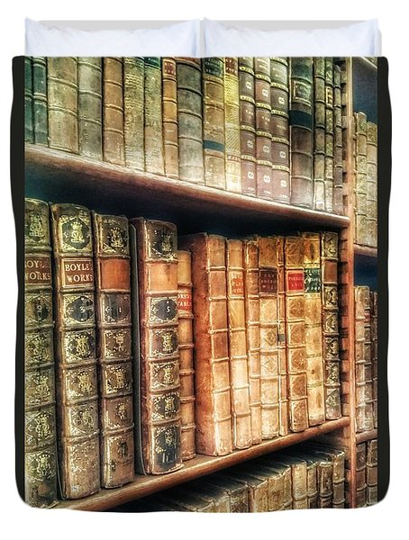 The Bookcase Duvet Cover by Isabella F Abbie Shores FRSA