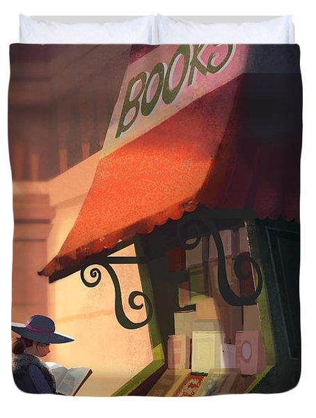 The Bookstore Duvet Cover