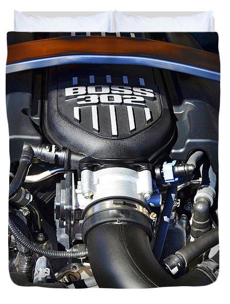 The Boss 302 Mustang Duvet Cover by Paul Mashburn