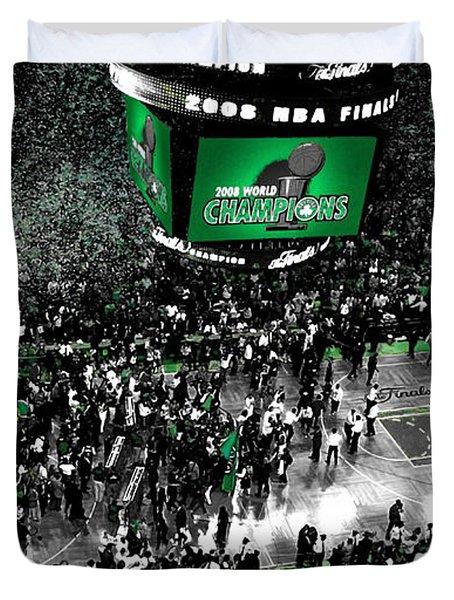 The Boston Celtics 2008 Nba Finals Duvet Cover