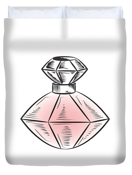 Duvet Cover featuring the digital art The Bottle by ReInVintaged