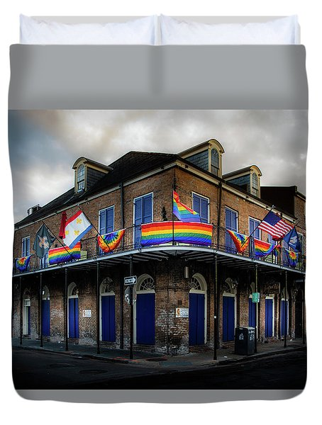 The Bourbon Pub Duvet Cover
