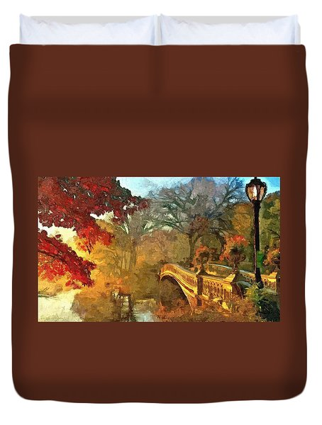 The Bow Bridge Nyc  Duvet Cover