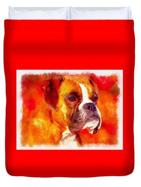 The Boxer Duvet Cover by Maciek Froncisz