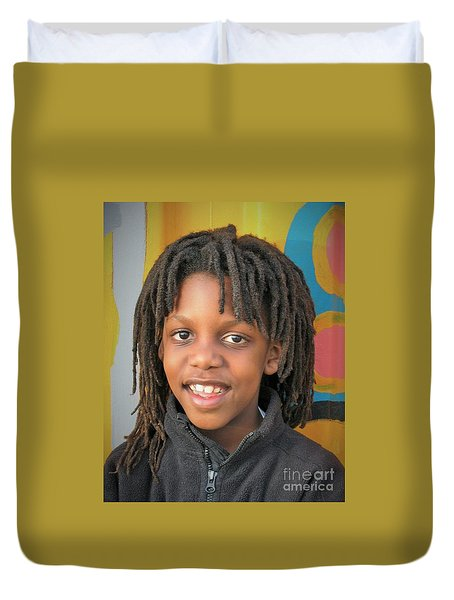 The Boy Who Wore Dreads Duvet Cover