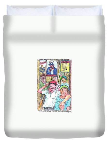 The Boys Of Spring Duvet Cover