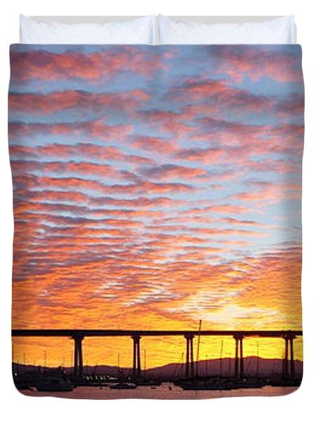 The Break Of Dawn In Coronado Duvet Cover