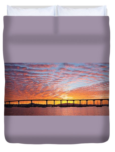 The Break Of Dawn In Coronado Duvet Cover