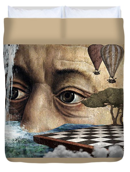 The Breaking Point Duvet Cover
