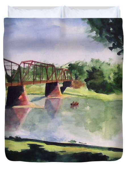 The Bridge At Ft. Benton Duvet Cover