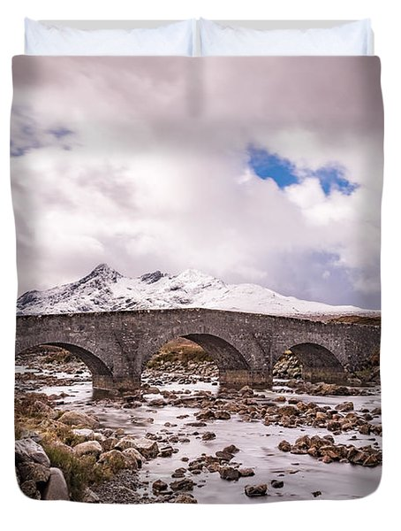 The Bridge At Sligachan On Skye Duvet Cover