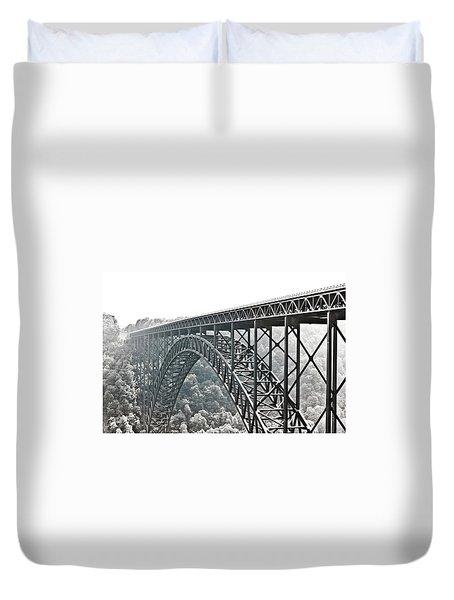The Bridge B/w Duvet Cover