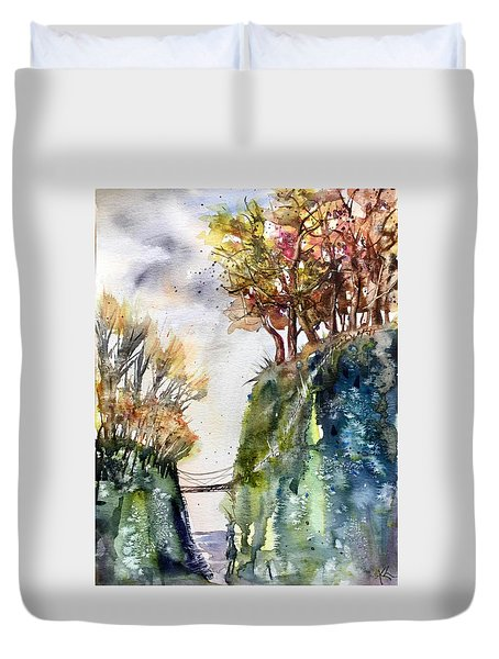 The Bridge Between Two Worlds Duvet Cover