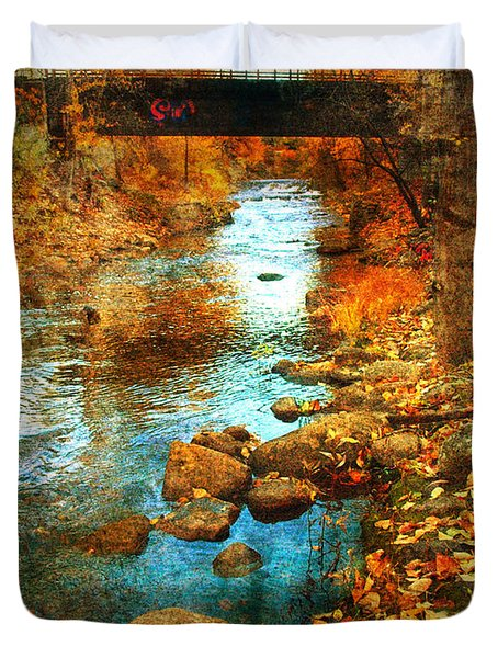 The Bridge By Government Street Duvet Cover by Tara Turner