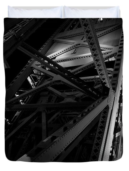 Duvet Cover featuring the photograph The Bridge by Eric Christopher Jackson