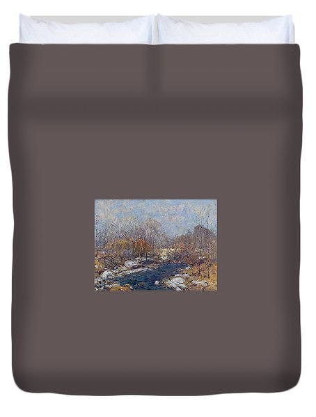 The Bridge  Garfield Park  By William J  Forsyth Duvet Cover