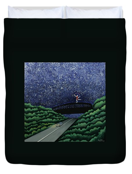The Bridge II Duvet Cover