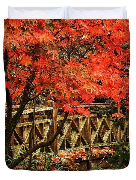 The Bridge In The Park Duvet Cover