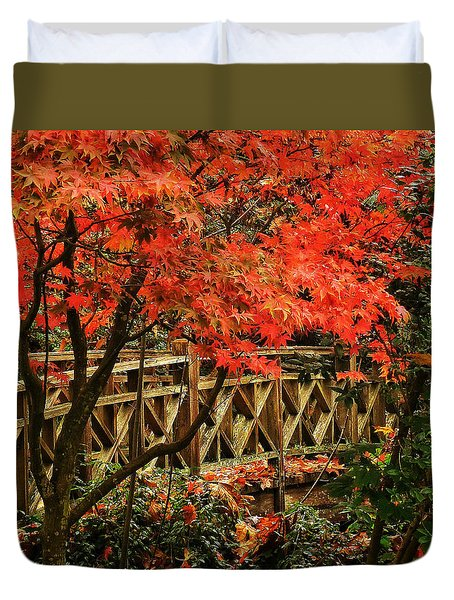 The Bridge In The Park Duvet Cover by Connie Handscomb