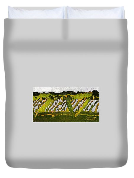 Duvet Cover featuring the photograph The Bridge - Me To You by Tom Cameron