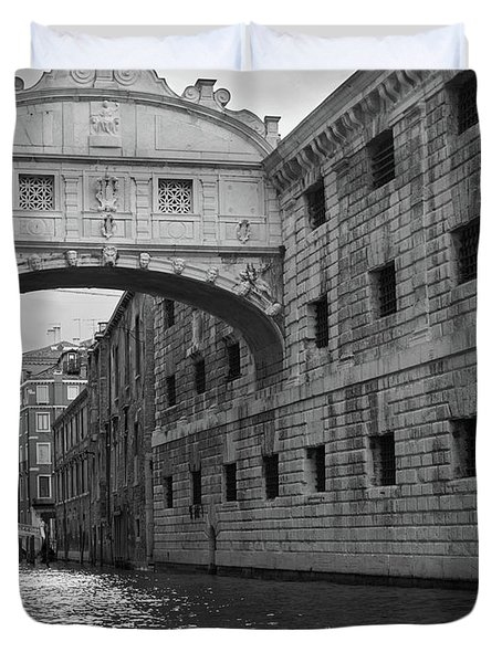The Bridge Of Sighs, Venice, Italy Duvet Cover