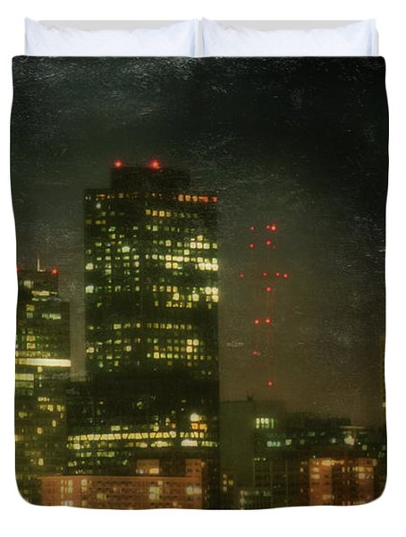 The Bright City Lights Duvet Cover by Laurie Search