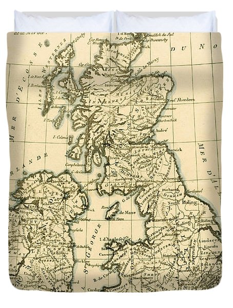 The British Isles Duvet Cover by Guillaume Raynal