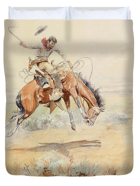 The Bronco Buster Duvet Cover