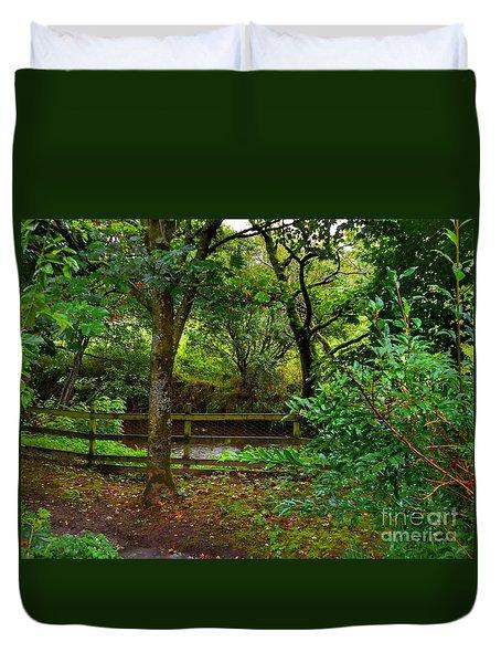 The Brook At Gibbon's Bridge Duvet Cover