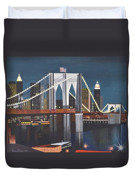 The Brooklyn Bridge Duvet Cover