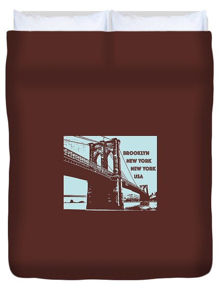 The Brooklyn Bridge, New York, Ny Duvet Cover