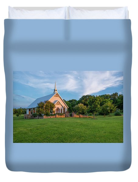 The Brooks At Weatherford Wedding Chapel Duvet Cover