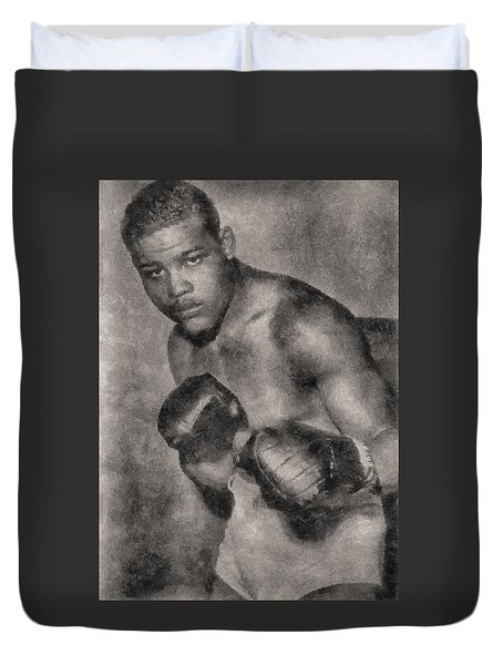 Duvet Cover featuring the photograph The Brown Bomber by Joseph Hollingsworth