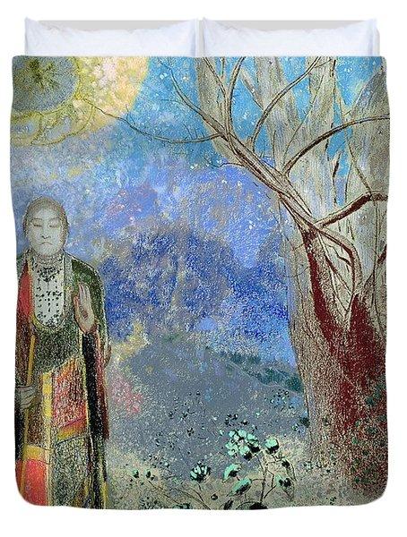 The Buddha Duvet Cover by Odilon Redon